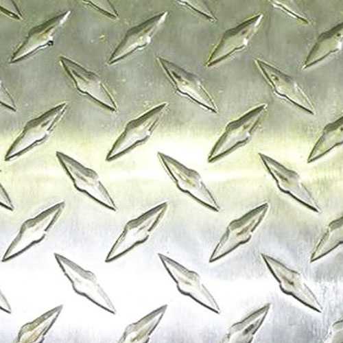 Лист алюминиевый Бриллиант 1.5х600х1200 мм рифленый