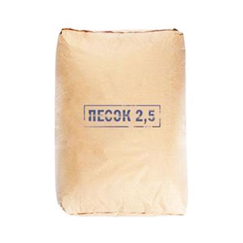 Песок строительный сухой Петролит фракция 0-2,5 мм 25 кг