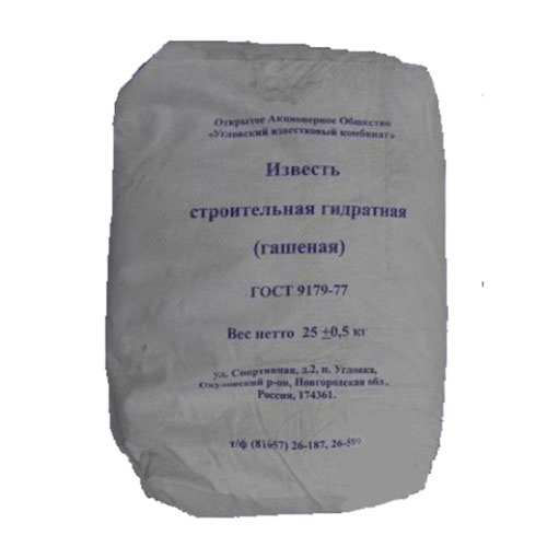 Известь-пушонка гашеная 25 кг