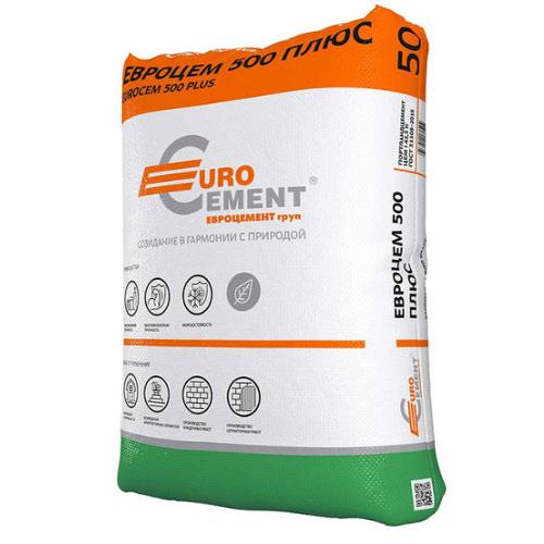 Цемент Евроцемент М500 Д0 ЦЕМ I 42,5 50 кг